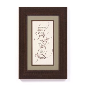 'Within This House' Framed Textual Art by Winston Porter