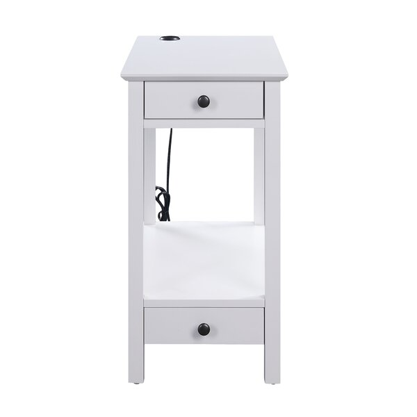 Melchior 2 Drawer End Table By Breakwater Bay