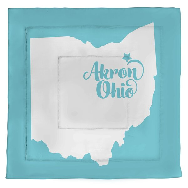 Ohio Akron Single Reversible Comforter