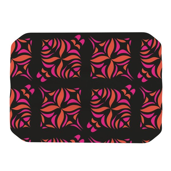 Orange on Black Tile Placemat by KESS InHouse