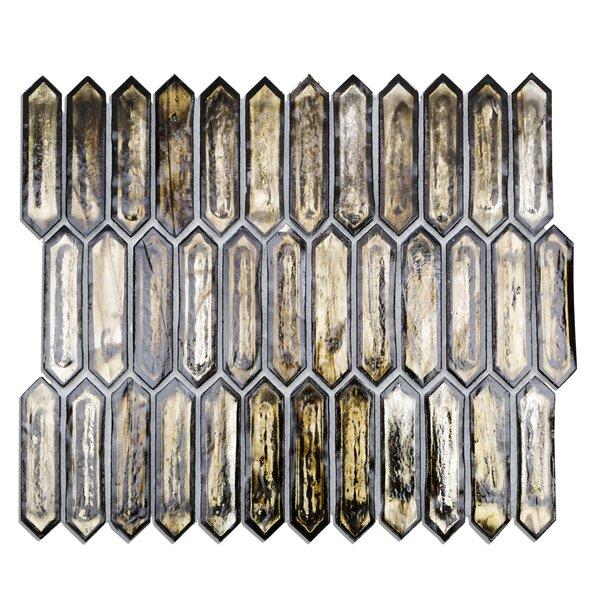 Fargin 0.9 x 3.1 Glass Mosaic Tile in Dark Star by Splashback Tile