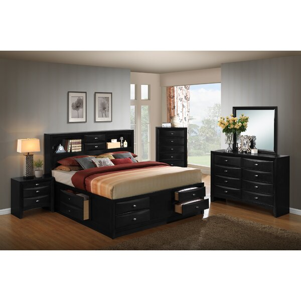 Savard Wood Storage Platform 6 Piece Bedroom Set by Charlton Home