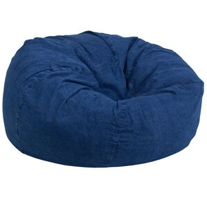Denim Kids Bean Bag Chair by Harriet Bee