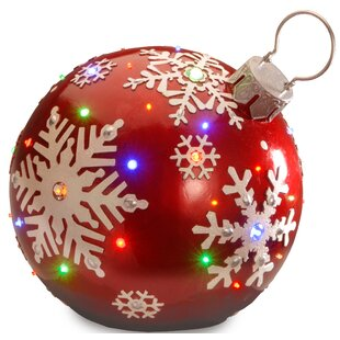 pre lit ball ornament - Large Christmas Ball Ornaments
