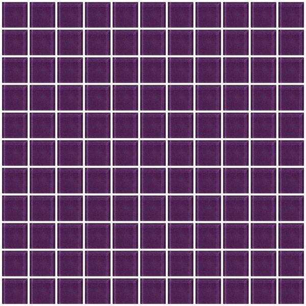 1 x 1 Glass Mosaic Tile in Lavender Purple by Susan Jablon