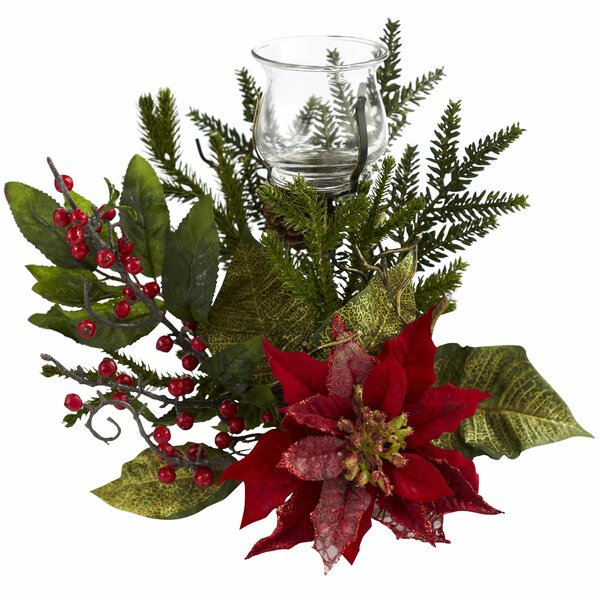 Poinsettia Candelabrum by Charlton Home