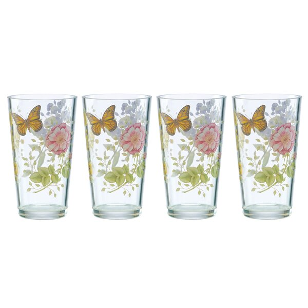 Meadow 24 oz. Acrylic Every Day Glass (Set of 4) by Lenox