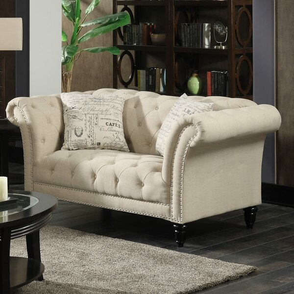 Low Priced Narcisse Chesterfield Loveseat by One Allium Way by One Allium Way