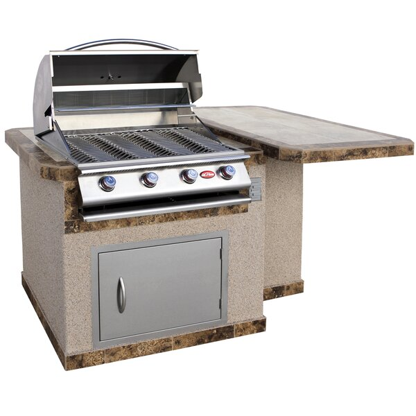 4-Burner Built-In Propane Gas Grill with Cabinet by Cal Flame