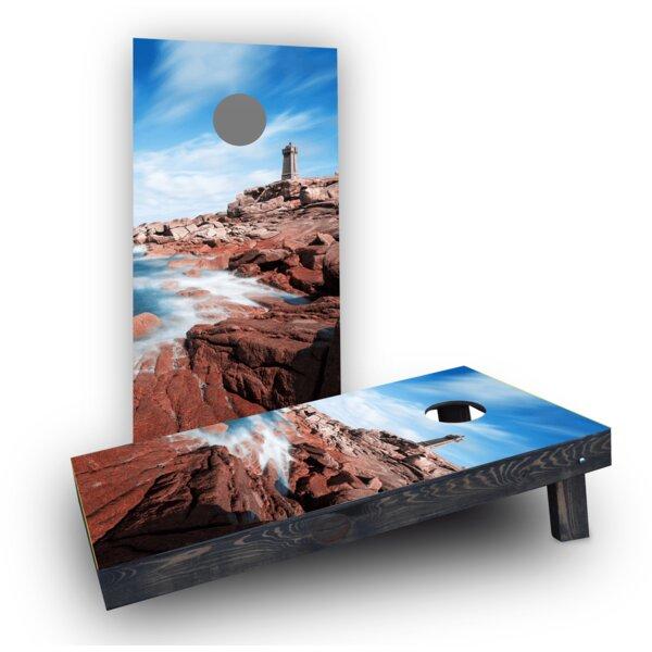 Lighthouse by the Sea Cornhole Boards (Set of 2) by Custom Cornhole Boards