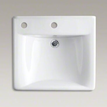 Soho Ceramic 20 Wall Mount Bathroom Sink with Overflow