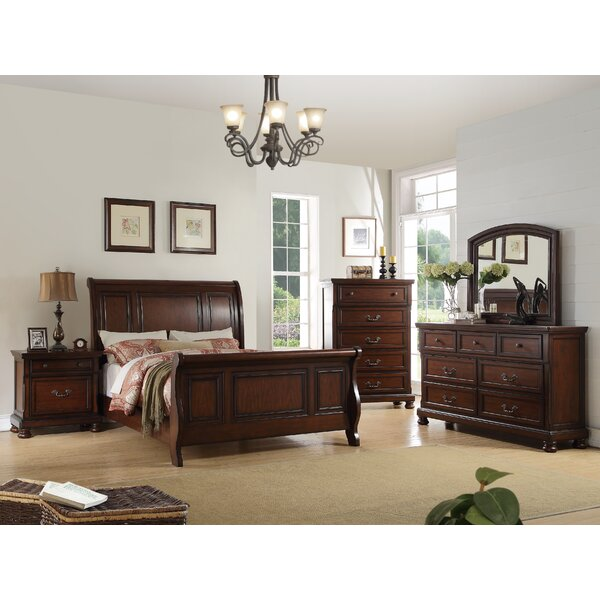 Carnella Sleigh Bed by A&J Homes Studio A&J Homes Studio