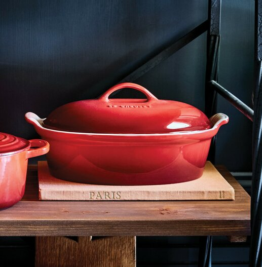 Stoneware Oval Heritage Covered Casserole by Le Creuset