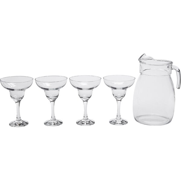 5-Piece Palma Paradise Pitcher Set by Circle Glass