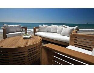 Hamilton 4 Piece Teak Sunbrella Sofa Set with Cushions By OASIQ