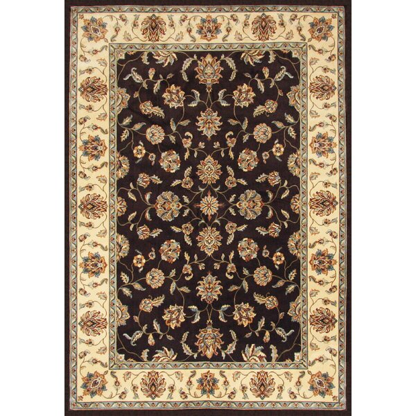 Beecroft Chocolate/Cream Area Rug by Darby Home Co