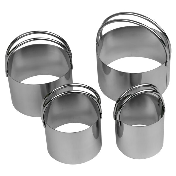Biscuit 4 Piece Cutter Set by Evelots