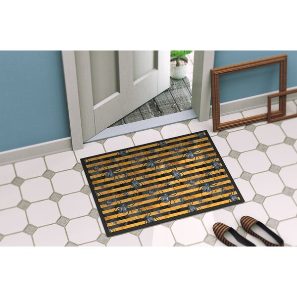 Precita Halloween Spiders Doormat by The Holiday Aisle