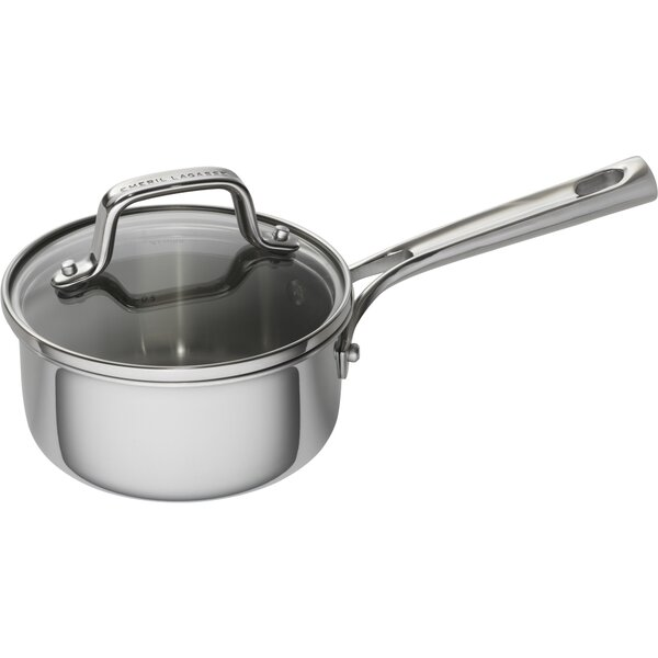 1 qt. Tri-Ply Stainless Steel Sauce Pan with Lid by Emeril Lagasse