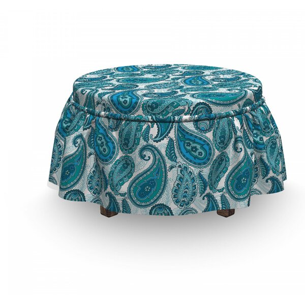Antique Paisley Ethnic Ottoman Slipcover (Set Of 2) By East Urban Home