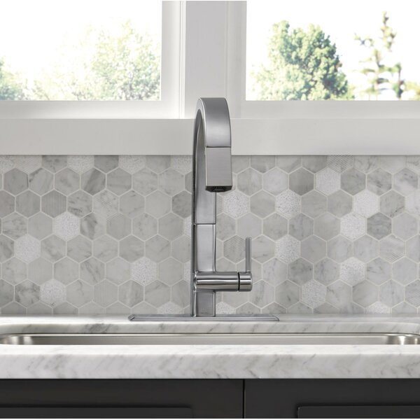 Single Handle Pull Down Kitchen Faucet by Delta