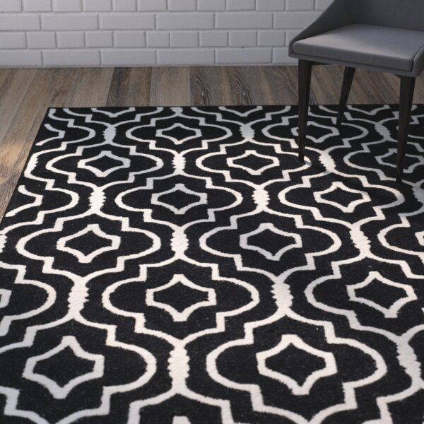 Martins Black / Ivory Area Rug by Wrought Studio