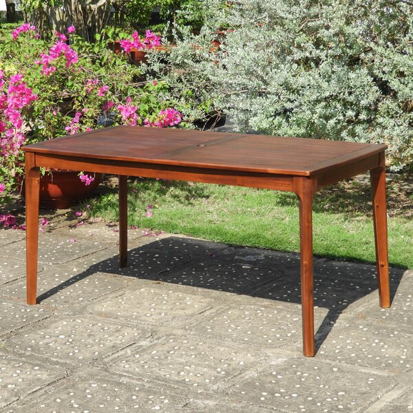 Fender Solid Wood Dining Table by Charlton Home