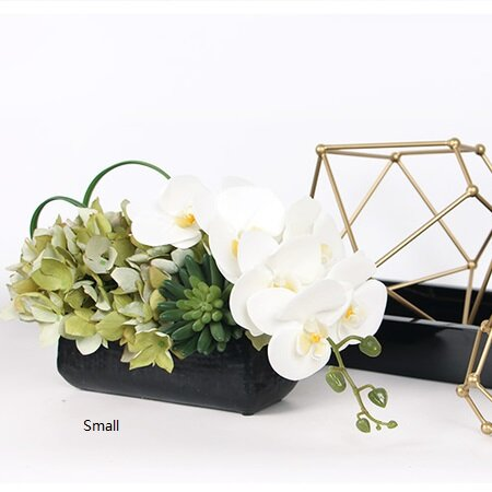 Succulent Hydrangea and Orchid Floral Arrangement in Vase by Latitude Run