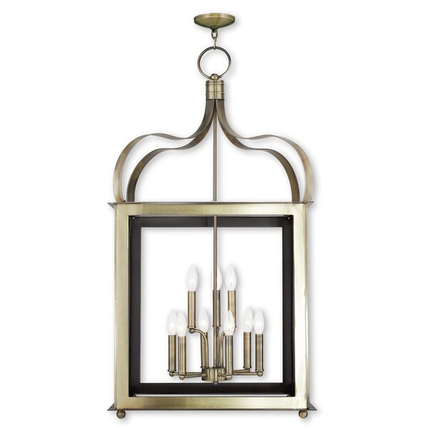 Robertson 9 - Light Lantern Rectangle Chandelier By World Menagerie