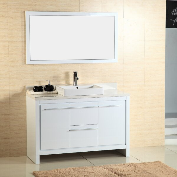 Alexa 48 Single Vanity with Mirror by Adornus