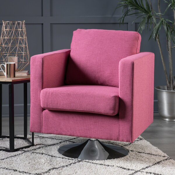 Hoopes Swivel Armchair by Wrought Studio