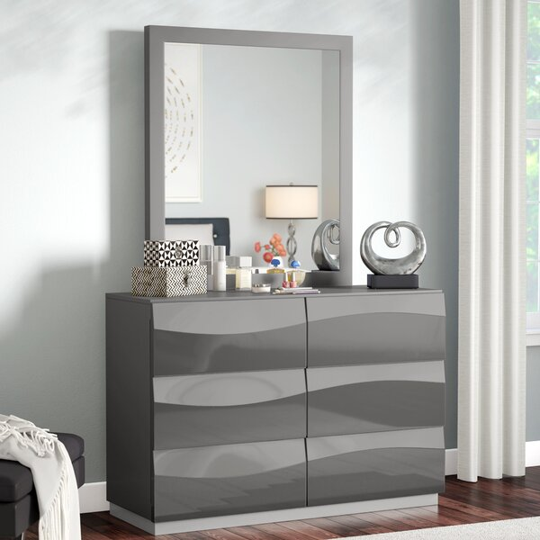 Moumoune 6 Drawer Dresser with Mirror by Orren Ellis