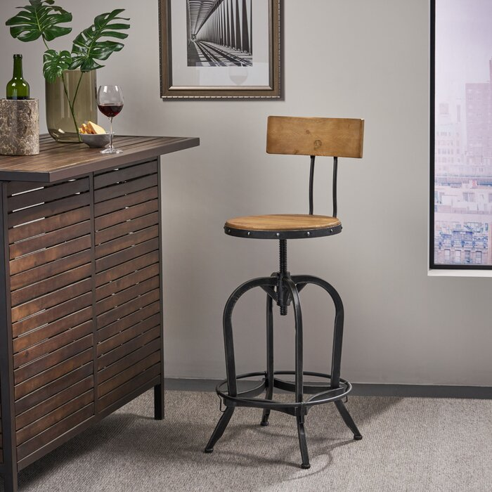 Wondrous Oria Adjustable Height Swivel Bar Stool Gamerscity Chair Design For Home Gamerscityorg