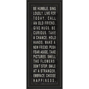 Be Humble Framed Textual Art by Classy Art Wholesalers