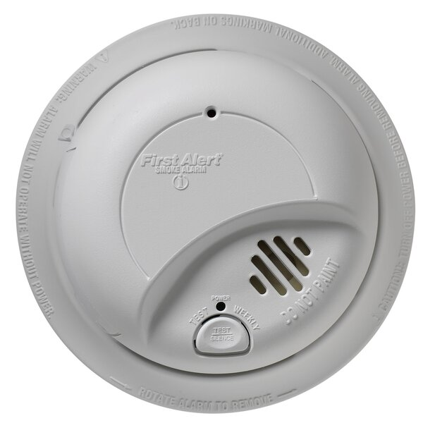 Hardwired Smoke Alarm with Battery Backup by First