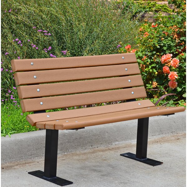 Contour Recycled Plastic Park Bench by Frog Furnishings