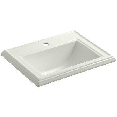 Drop Sink Ceramic Rectangular Overflow Faucet Single photo