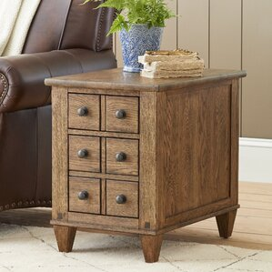 Derrickson Chairside Table with Drawers by B..