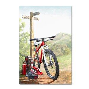 'Mountain Bike' Print on Canvas by Trademark Fine Art