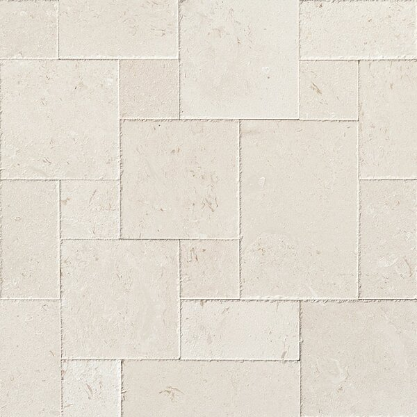 Random Sized Limestone Leather Look Tile in Beige by Parvatile