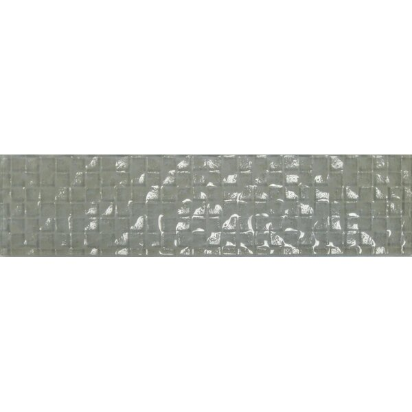 Cubale 3 x 12 Glass Mosaic Tile in Linen by Epoch Architectural Surfaces