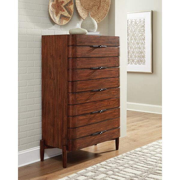 Cobbs 5-Drawer Chest Desert Teak by Corrigan Studio