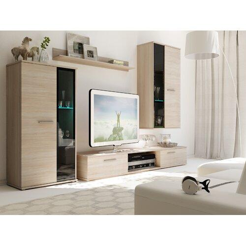 Wohnwand Trevino für TVs bis zu 48 17 Stories Farbe: Hellbraun   Wohnzimmer > Schränke > Wohnwände   17 Stories