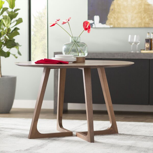 Hartleton Solid Wood Dining Table by Wade Logan