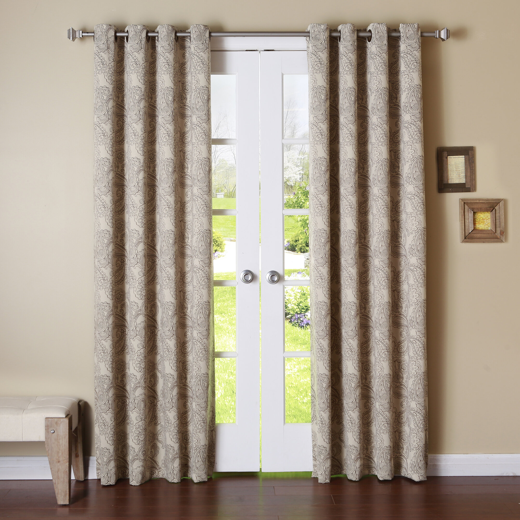 product linen luxe grommet overstock shipping grand curtains tone home panel curtain monterey free garden today
