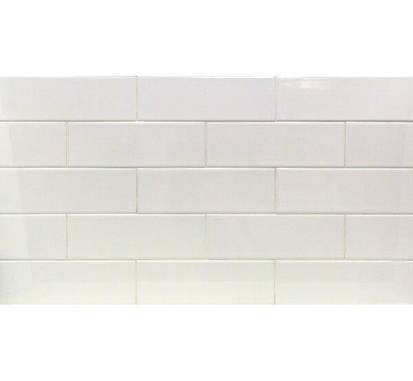 Essential 4 x 12 Porcelain Subway Tile in White by Splashback Tile