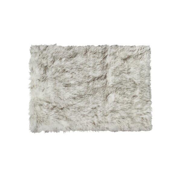 Shawnta Faux Sheepskin Gradient Gray Area Rug by Union Rustic
