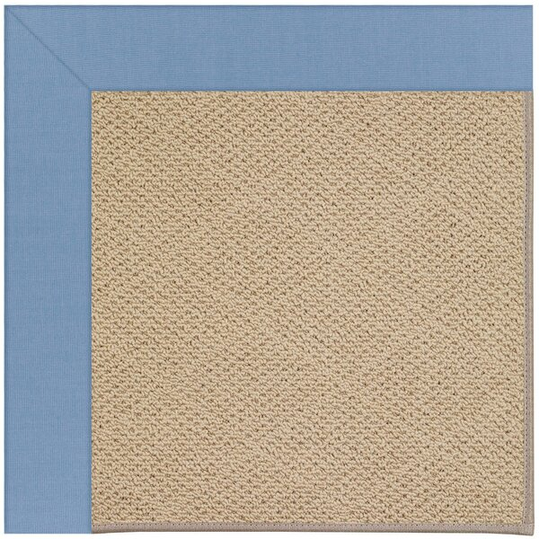 Lisle Machine Woven Blue/Beige Indoor/Outdoor Area Rug by Longshore Tides