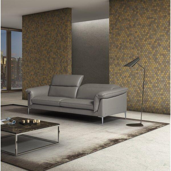 France Leather Sofa by Orren Ellis