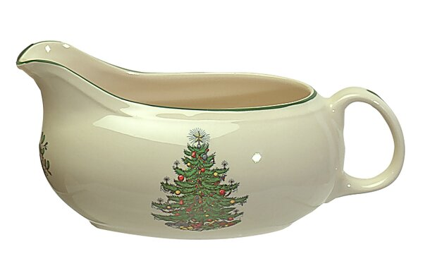 Original Christmas Tree Traditional Gravy Boat by The Holiday Aisle